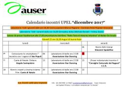 Calendario incontri di Dicembre 2017