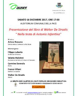 """Presentazione del libro di Walter De Stradis """" Nella testa di Antonio Infantino"""""""
