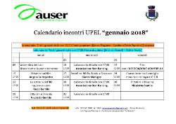Calendario incontri di Gennaio 2018