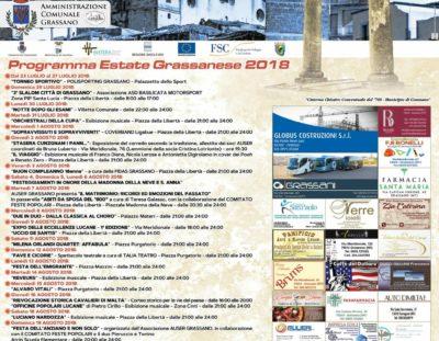 Programma Estate grassanese 2018