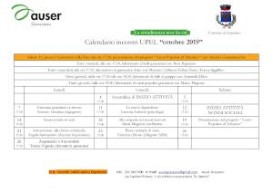 Calendario Ottobre 2019