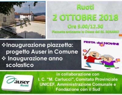 Inaugurazione Piazzetta Auser Ruoti