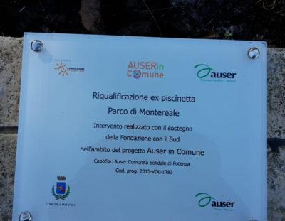 Potenza. Inaugurazione Piscinetta di Montereale