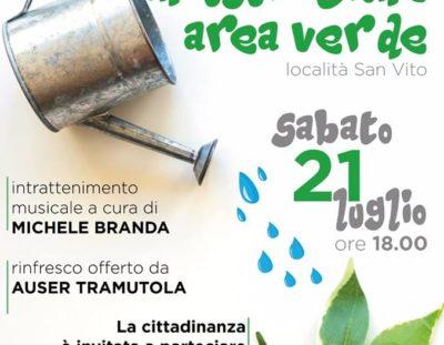 Inaugurazione area verde a Tramutola